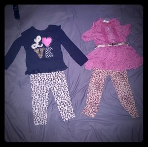 3t outfits both with leopard spotted pants